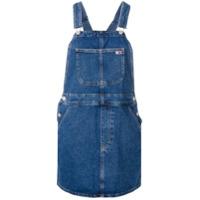 Tommy Jeans Vestido Jardineira Jeans - Azul