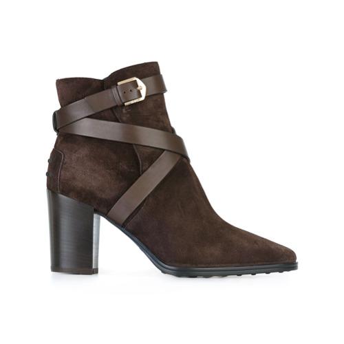 Imagem de Tod's Ankle boot de camurça e couro - Marrom