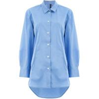 Sara Lanzi Camisa Com Botões - Azul