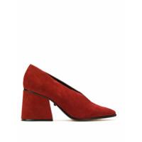 Schutz Sapato Com Salto Alto Largo - Vermelho