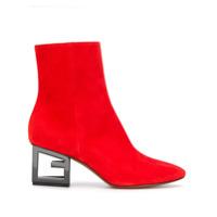 Givenchy Ankle Boot Com Salto G - Vermelho