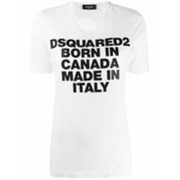Dsquared2 Camiseta Born In Canada - Branco