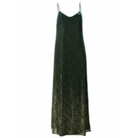 Ultràchic Vestido Longo De Lurex Estampado - Green