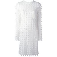 Carven Vestido Bordado - Branco