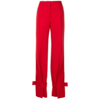 Victoria Beckham Calça De Alfaiataria - Vermelho