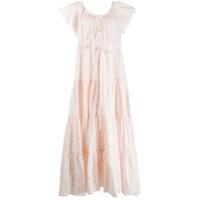Innika Choo Vestido Longo De Algodão Com Amarração - Rosa