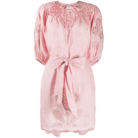 Innika Choo Vestido Com Bordado Floral - Rosa