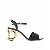 Dolce & Gabbana Sandália com salto Baroque D&G - Preto - FarFetch BR