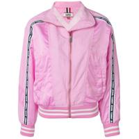 Tommy Jeans Jaqueta Bomber Listrada Com Logo - Rosa