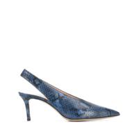 Leqarant Sapato Pele De Cobra Com Fixação No Tornozelo - Azul