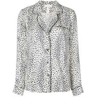 Fleur Du Mal Blusa Com Estampa Leopardo - Branco