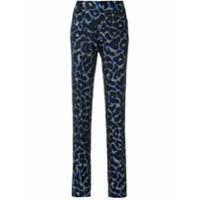 Tufi Duek Calça Skinny Animal Print - Azul