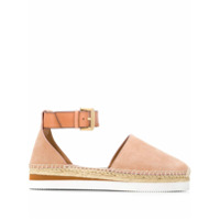 See By Chloé Buckled Espadrille Sandals - Neutro