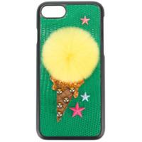 Dolce & Gabbana Capa Para Iphone 7 'pom Pom' - Preto