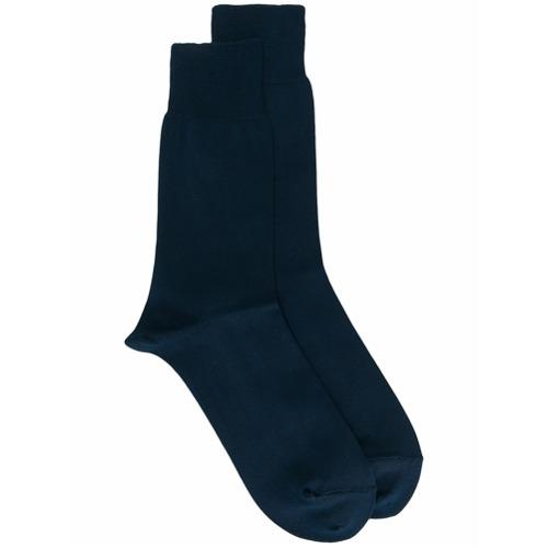 Imagem de Comme Des Garçons Homme Plus Meia de tricô stretch - Azul