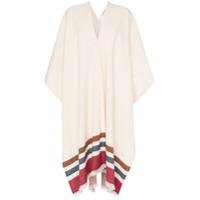Three Graces Poncho Listrado - Branco