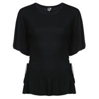 Jean Atelier Camiseta Drapeada - Preto