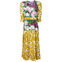 Rixo London Vestido Estampado - Amarelo