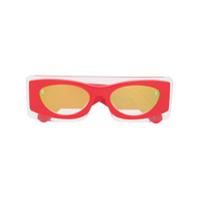 Kenzo Óculos De Sol Oval - Laranja