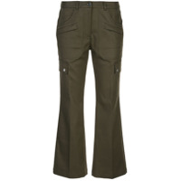 Michael Kors Collection Calça Flare Cropped - Verde
