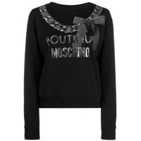 Boutique Moschino Logo Print Sweater - Preto