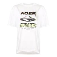 Ader Error Camiseta Invaders - Branco