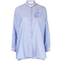 Brunello Cucinelli Camisa Fit Mangas Longas - Azul