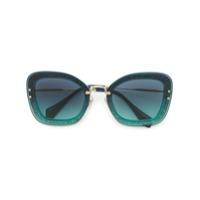 Miu Miu Eyewear Óculos De Sol Oversized - Azul