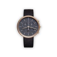 Uniform Wares Relógio 'm40 Chronograph' De Couro E Aço Inoxidável - Preto