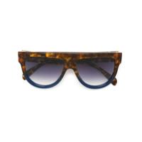 Celine Eyewear Óculos De Sol 'shadow' - Marrom