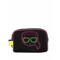 Karl Lagerfeld Necessaire K/ikonik Neon - Preto