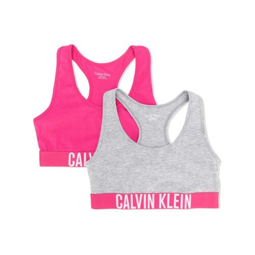 Imagem de Calvin Klein Kids Conjunto 2 peças de sutiã com logo - Cinza