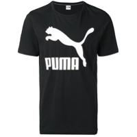 Puma Camiseta Com Logo - Preto