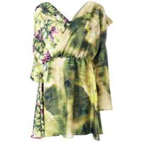 MSGM Vestido floral - Green