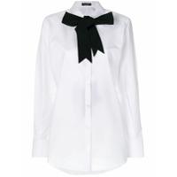 Dolce & Gabbana Camisa Com Laço Contrastante - Branco