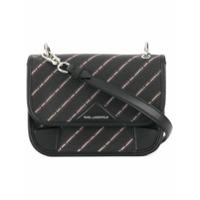 Karl Lagerfeld Bolsa Tiracolo Com Logo - Preto