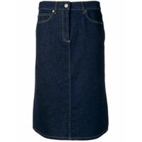 Calvin Klein Saia Lápis Jeans - Azul