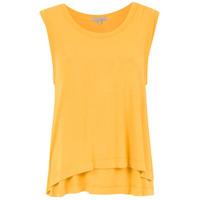 Alcaçuz Blusa 'frederica' Com Sobreposição - Amarelo