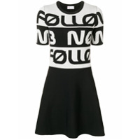 Red Valentino Vestido Follow Me Now De Jacquard - Preto