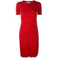 Alexandra Golovanoff Vestido De Tricô - Vermelho