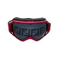 Fendi Óculos De Ski Com Logo - Vermelho