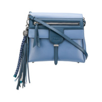 Tod's Bolsa Tiracolo De Couro Com Tassel - Azul