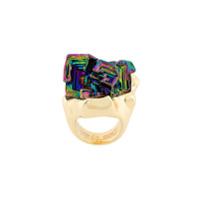 Coup De Coeur Anel 'vortex Rainbow Stone' - Metálico
