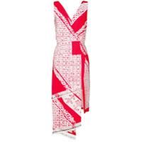 Altuzarra Vestido Estampado 'pavillon' - Branco