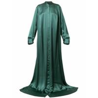 Ann Demeulemeester Vestido Longo De Seda - Verde