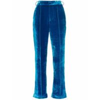 De La Vali Calça 'lily' De Veludo - Azul