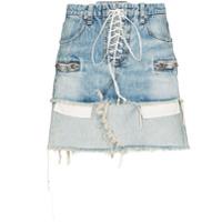 Unravel Saia Jeans Com Amarração - Azul
