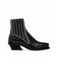 Proenza Schouler Western-Inspired Ankle Boots - Preto