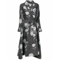 Co Floral Print Coat - Preto