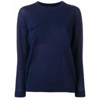 Sara Lanzi Suéter Decote Careca - Azul
